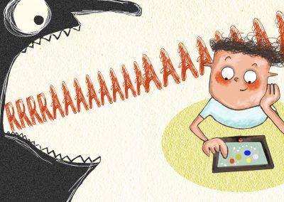 De schreeuw die bang maakt